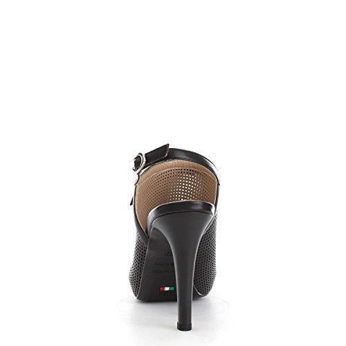 Nero Giardini - Zapatos de vestir para mujer Nappa Pandora Nero Nappa Pandora Nero