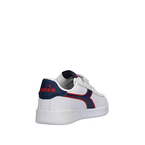 Sneaker 34 C7628 173324 Bambino Diadora Bianco 101 wxzatBp