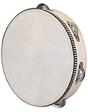 """8"""" Musical Tambourine Tamborine Drum Round Percussion Gift for KTV Party Strong and Sturdy"""