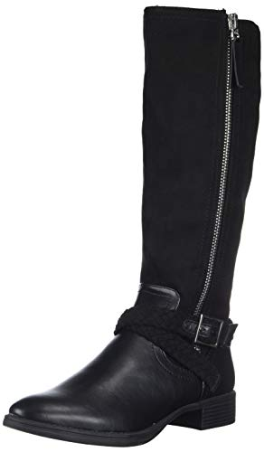 Circus by Sam Edelman Women's Perry Knee High Boot, Black Waxy/Microsuede, 9 M US (Sam Edelman Kent Over The Knee Boots)