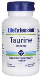 Taurine 1000 mg 90 capsules de Veg