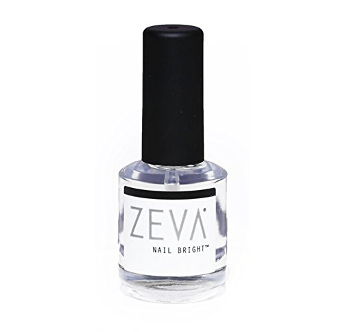 ZEVA Nail Bright - One-Step Salon Grade French Manicure Fingernail & Toenail Polisher & Whitener - Quick Dry White & Pink Polish & Brightener for Nails