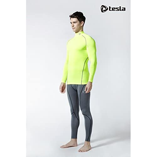 d5a004a355 Tesla Men s Mock Long-Sleeved T-Shirt Cool Dry Compression Baselayer MUT12  T11