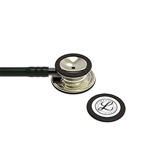 3M Littmann Classic III Monitoring Stethoscope, Champagne - Finish Chestpiece, Black Tube, Smoke Stem and Headset, 27 inch, 5861
