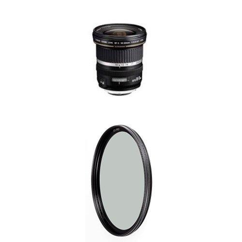 Canon EF-S 10-22mm f/3.5-4.5 USM SLR Lens for EOS Digital SLRs w/ B+W 77mm XS-Pro HTC Kaesemann Circular Polarizer