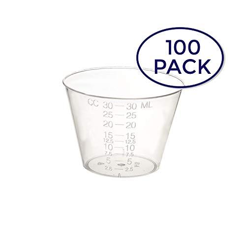 Dynarex 4252-1 Medicine Cup (Polyethylene), 100 Count, 1 Sleeve, Clear -