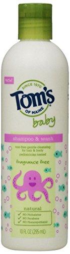 Tom's of Maine Baby Shampoo & Wash, Fragrance Free, 10 fl oz