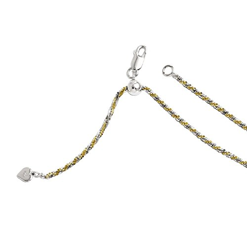 Leslies Sterling Silver Gold-plated Adjustable Cyclone Chain -