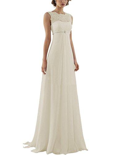 Amore Mousseline De Mariée En Dentelle Élégantes Robes De Mariage De Soirée Empire Robes De Mariée Blanche