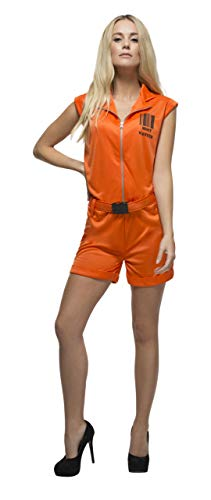 Smiffys Women's Fever Convict Queen Jailbird Prisoner Costume,