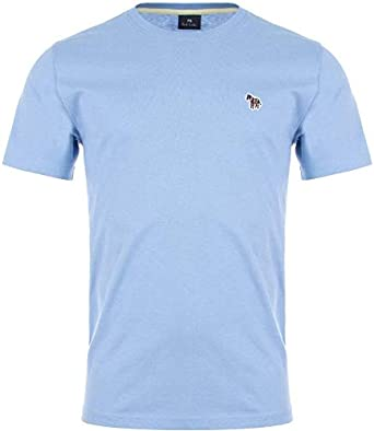 Paul Smith - Camiseta de manga corta, diseño de cebra, color azul Azul azul celeste XXL: Amazon.es: Ropa y accesorios