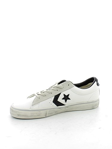 Converse Pro Leather Vulc Distressed Ox unisex erwachsene, glattleder, sneaker high Weiß-Grau