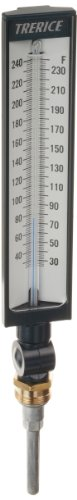 Adjustable Industrial Thermometer (Trerice BX9140307 Adjustable Angle Industrial Thermometer, 9