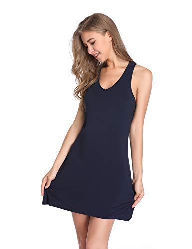 da Camicia Blu Camicia Donna a Notte Sexy Notte V Vestaglia Lusofie Scollo da 6ZgOwYnnq