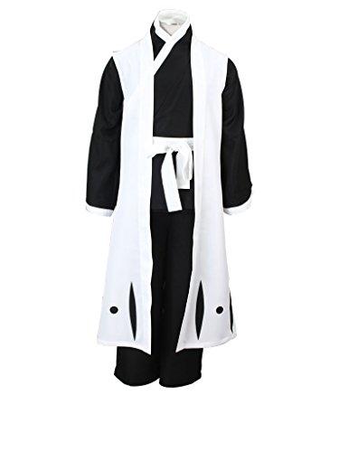 Mtxc Men's Bleach Cosplay Hitsugaya Toushirou 3rd Squad Ten Uniform Simplify Ver Size Medium White