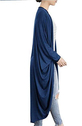 Unie Chauve Veste Mode Oversize Outerwear Irregular Coat Large Bleu Elgante Automne BIRAN Dsinvolte Couleur Souris Cardigan Printemps Longues en Femme Manteau Tricot breal wwa6vqXHx