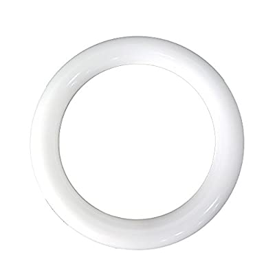 LuLofe Circline 11W 8 Inch Milky LED Replacement for 22W Fluorescent Round Tube 3000K With Internal Power Supply
