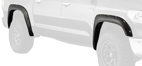 Bushwacker 30918-02 Pocket Style Black Fender Flare, (Set of 4) ()