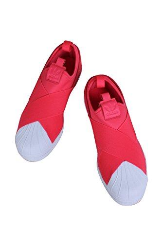 Scarpe Da Ginnastica Adidas Originali Da Donna Superstar Slip On Pink / White