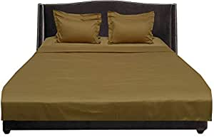 Brightlinen Gold King (150 X 200 Cm) Sheet Set Solid(pocket Size: 34 Cm) 6pcs