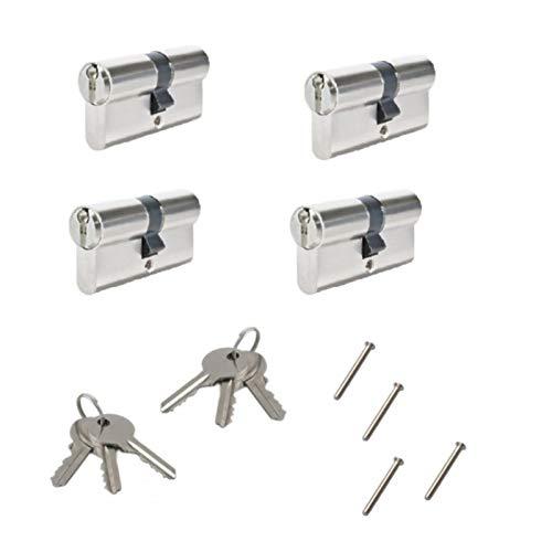 cl/é unique 4 Pi/èces 60 mm cylindre einbauschloss 20 cl/és avec cadenas sentrouvrant