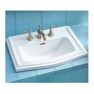 Lavatory Clayton (Toto LT781.4-12 Clayton Self Rimming 4-Inch Centers Lavatory, Sedona Beige)
