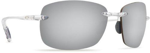 Costa Del Mar Destin Men's Polarized Sunglasses, Crystal/Silver Mirror 580P, - Del Cost Mar