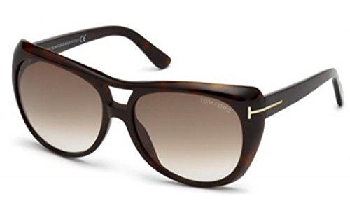 Tom Ford TF 294/S 52F Claudette Brown Full Rim Oversized Aviator - Uk Toms Sunglasses
