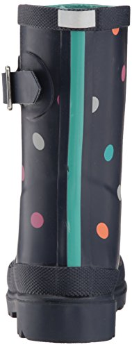 Joules Girls' JNRGIRLSWLY Rain Boot, Navy Tiny spot