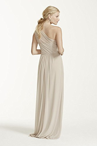 Mesh Style Bridesmaid Mercury One Shoulder F15928 Long Neckline Dress RAHqpw