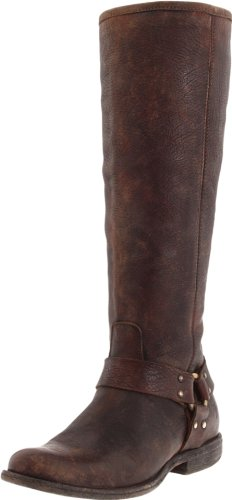 Dark Harness Frye Tall Brown de Phillip Boot mujer la q0ZfxFwzZ