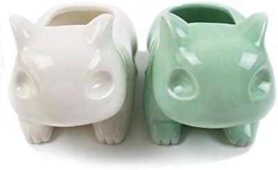 Amazon.com: Kawaii cerámica maceta Bulbasaur suculentas ...