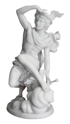Hermes (Mercury) Greek Roman God of Luck, Commerce and Comminucation 9-inch Statue