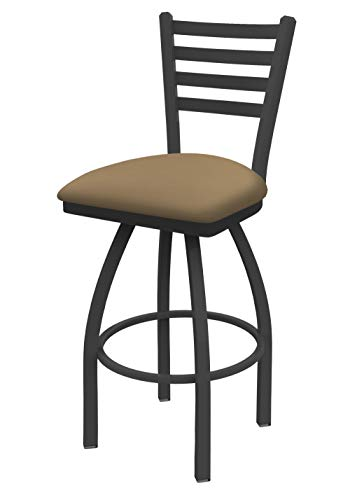 """410 Jackie 25"""" Swivel Counter Stool with Pewter Finish and Canter Sand Seat"""