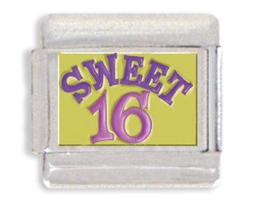 Sweet Sixteen Italian Charm Bracelet Link