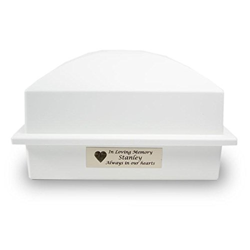 Outdoor Memorial Vault Plastic Urn Vault for Burial - White with Engraving Cremation Urn Vault - Custom Engraving Included