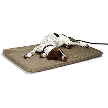 K&H Pet Products Lectro-Soft Outdoor Heated Pet Bed Tan Large 25 x 36