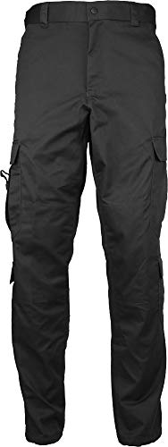 Army Universe Black Uniform 9 Pocket EMT Cargo Pants with Pin -M (34W x 32L)