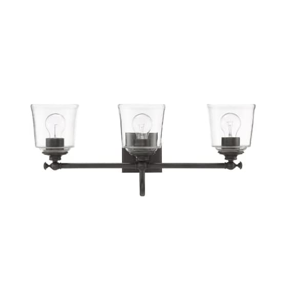 "Park Harbor PHVL3013PN Antonia 3 Light 25-1/4"" Wide Bathroom Vanity Light with Clear Glass Shades - Constructed from steel Comes with clear glass shades Requires (3) 33.33 watt medium (E26) bulbs - bathroom-lights, bathroom-fixtures-hardware, bathroom - 31n zsy%2BXgL. SS570  -"