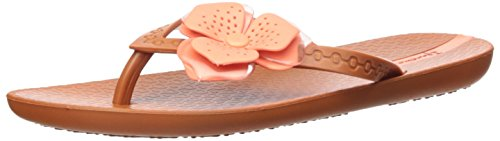 Ipanema Women's Neo Petal Flip-Flop, Brown/Orange, 6 M US