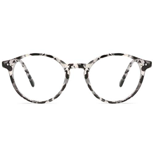 TIJN Blue Light Blocking Glasses Men Women Vintage Thick Round Rim Frame Eyeglasses ()