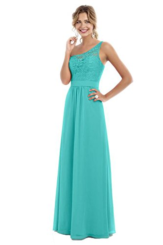 Beauty Bridal Women's One Shoulder Bridesmaid Chiffon Prom Dresses Long Evening Gowns S007 - Tiffany Policy Return