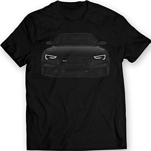 Audi RS5 T-Shirt A5 S5 Black 100% Cotton (M, Black)