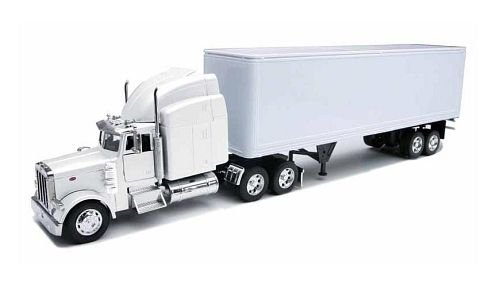 Peterbilt 379 With Dry Van - All-White Toy (Peterbilt 379)
