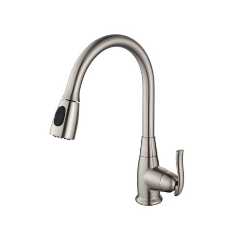 KRAUS KPF-2230SN Single Lever Pull Out Kitchen Faucet, Satin Nickel