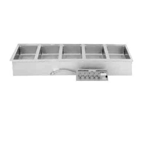 "Wells MOD-500TDM Food Warmer top-mount built-in electric (5) 12"" x 20"" openings"
