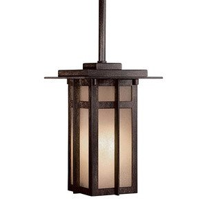 Minka Great Outdoors 71190-A357-PL Delancy - One Light Pendant, Iron Oxide Finish with French Scavo Glass