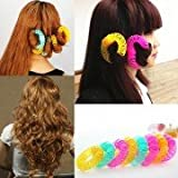 8Pcs/Lot Fashion Lucky Donuts Curly Hair Curls Roller Hair Styling Tools Hair Accessories For Women