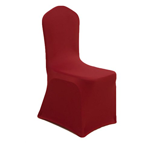 GFCC Set of 60pcs Burgundy Color Polyester Spandex Chair Covers for -