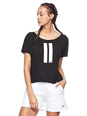 BodyTalk Women's Loose Cut Short-Sleeved T-Shirt, Black, Small